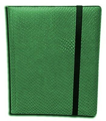Legion 20 Page Side-Loading Dragon-Hide Textured Binder: Green