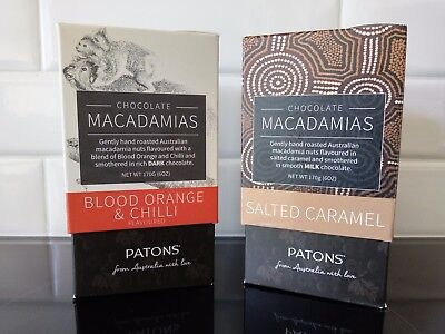 Patons Macadamia Nuts - Blood Orange & Chilli and Salted Caramel Twin Tower Pack