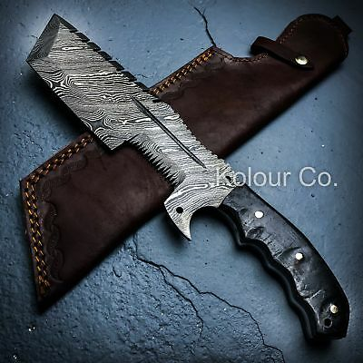 """13"""" DAMASCUS HUNTING Tracker Tactical FIXED BLADE KNIFE Machete Army Bowie"""