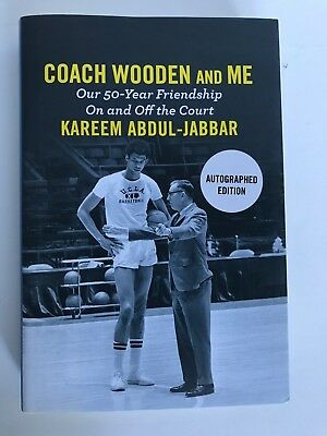 Kareem Abdul-Jabbar: Coach Wooden and Me. Personally Autographed. First Edition