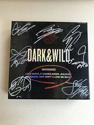 Bts Signed Album Dark & Wild. From South Korea. Shipping From Us.
