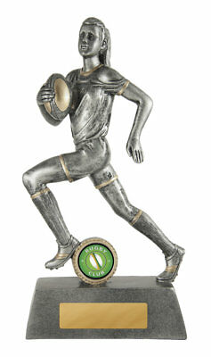 NEW Rugby Trophy Female 225mm Rugby Trophies Sport Sports Award