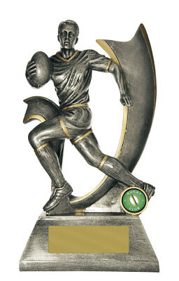 NEW Rugby Trophy Velocity Series 275mm Rugby Trophies Sport Sports Award