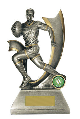 NEW Rugby Trophy Velocity Series 225mm Rugby Trophies Sport Sports Award