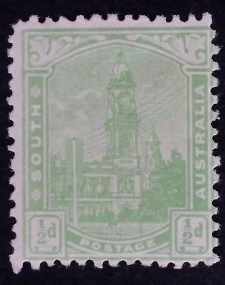 1899- South Australia 1/2 d Yellow Green Postage Stamp Perf 13 Mint