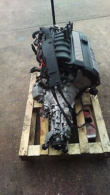BMW E36 M52 323i FULL ENGINE WITH GEARBOX LOOM AND ECU 115K MILES