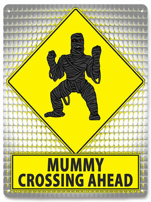 MUMMY METAL SIGN walking dead halloween funny great gift boys room decor art 065