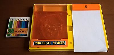 Vintage Stencil Drawing Toy - Portrait Maker