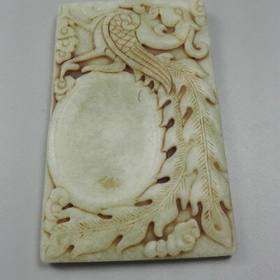 China  Handwork Decorative Natural Jade Carved Phoenix Ink Stone