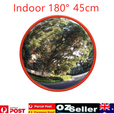 Convex Safety Mirror 45CM Indoor 180° Viewing Angle For Traffic Shop Driveway