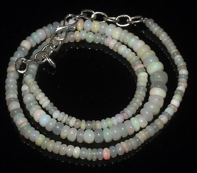 54 Ctw 3-6.5 Mm 17 Natural Genuine Ethiopian Welo Fire Opal Beads Necklace-R6541