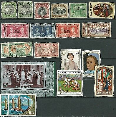 Cook Islands selection mint/used from 1932 (22 items)