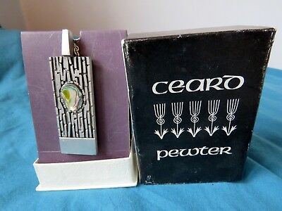 Vintage Large CEARD Lomond Slate & Pewter Necklace Scotland.  In Original Box