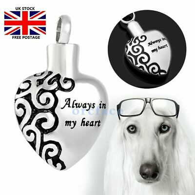 Necklace Pendant Urn Ashes Pet  Dog Cremation Memorial Locket Keepsake Jewellery