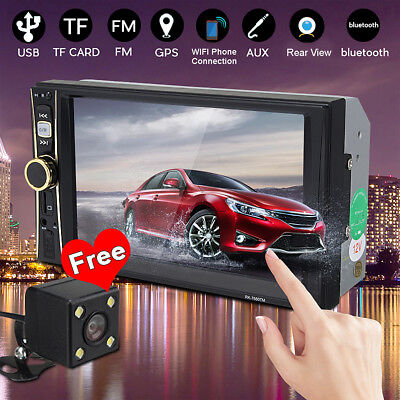 6.6'' 2DIN Car MP5 MP3 Player FM Bluetooth Touch Screen Stereo Radio HD + Camera
