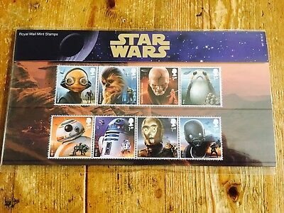 STAR WARS DROIDS 1ST CLASS Stamps X8 **BNIP** 12th October 2017 ISSUE DATE