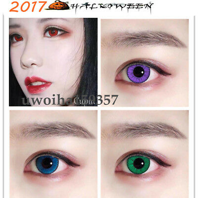 Coloured Contact Lenses Crazy Halloween Coloured Cosmetic Makeup Cosplay lens U1
