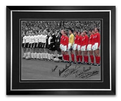Signed and Framed 16x12 Photo England 1966  signed by 5 Proof  COA