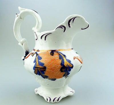 Gaudy Welsh Antique English Pottery  A Rockingham ? lustre ware Jug No.2 C.19thC