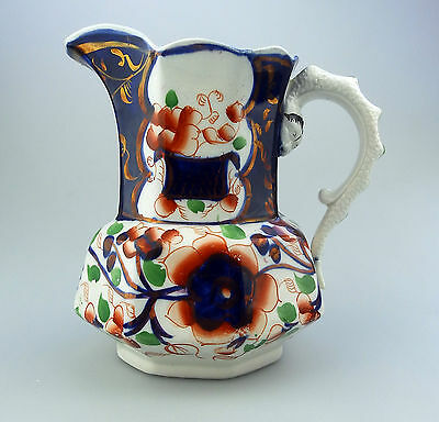 Gaudy Welsh Antique English Pottery : A large lustre ware Hydra Jug  C.19thC