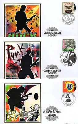 ALL 10 BENHAM BS908-917 CLASSIC ALBUM COVERS FDC'S 7-1-10 each with SHS F9