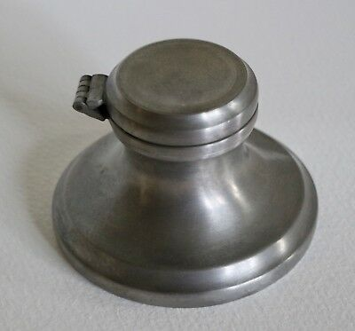 English Pewter Inkwell Made in Sheffield