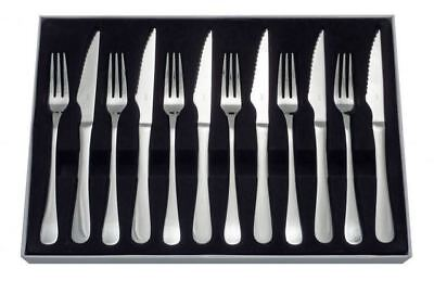 Judge Windsor Stainless Steel 12 Piece Steak Knife & Fork Set 25 Year Guarantee