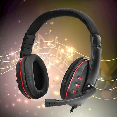 Gaming Headset Headphone with Mic Microphone Voice Control for Playstation PS4