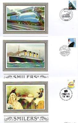 ALL 10 BENHAM BS918-927 BUSINESS SMILERS FDC'S 26-1-10 each with SHS F9