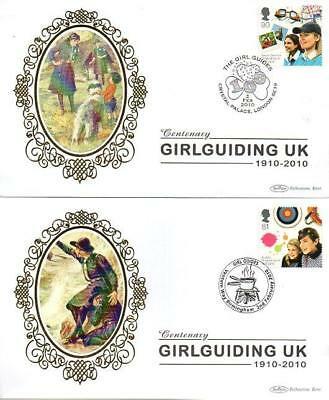 ALL 4 BENHAM BS928-31 GIRLGUIDING M/S STAMPS FDC'S 2-2-10 each with SHS F9