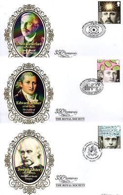 ALL 10 BENHAM BS932-41 ROYAL SOCIETY FDC'S 26-2-10 each with SHS F9