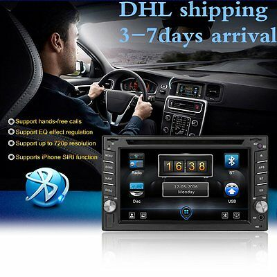 "6.2"" Touch 2 DIN Car Stereo BT Radio CD Player For Carplay Cast AM FM USB SD MIC"