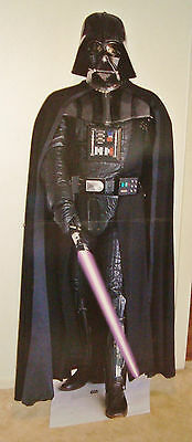 1996 talking CARDBOARD STAND up Promotional DISPLAY DARTH VADER STAR WARS rare