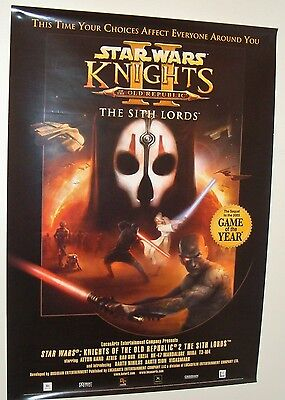 2004 STAR WARS VINTAGE original 70 x100cm SO RARE GAMES POSTER LUCASFILM KNIGHTS
