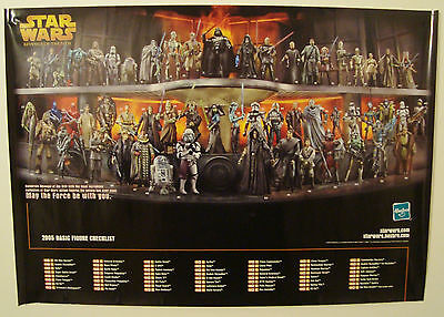 original 2005 59 x 42 RARE Star Wars Revenge Sith Action Figure Promo POSTER