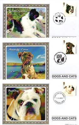 ALL 10 BENHAM BS942-51 DOGS & CATS FDC'S 11-3-10 each with SHS F9