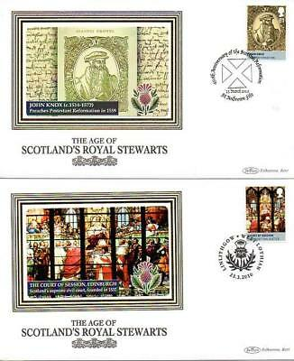 ALL 4 BENHAM BS959-62 AGE OF STEWART M/S STAMPS FDC'S 23-3-10 each with SHS F9