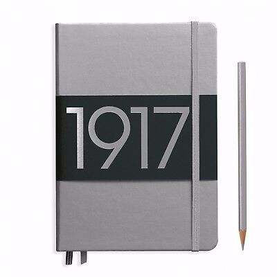 Leuchtturm1917 METALLIC Edition Notebook Medium A5 Dotted Pages SILVER COVER