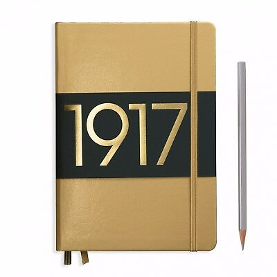 Leuchtturm1917 METALLIC Edition Notebook Medium A5 Dotted Pages GOLD COVER