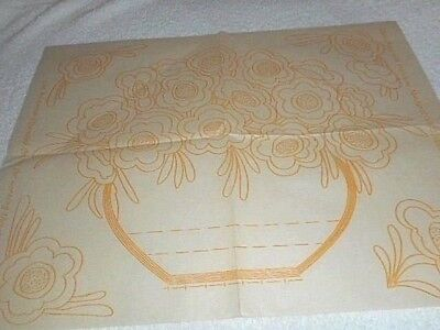 Vintage Embroidery Iron on Transfer- Good Needlework-  June   - Bowl of Flowers