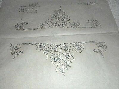 Large Vintage Embroidery Iron on Transfers No.736 - Flowers