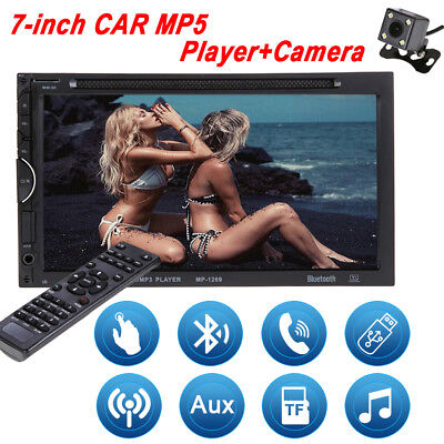 """Double 2 Din 7"""" In Dash Stereo Car DVD CD Player Bluetooth Radio iPod SD/USB UK"""