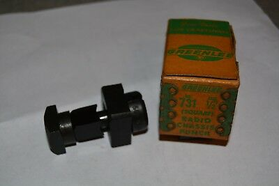"1/2"" Greenlee Radio Chassis Punch Square #731"
