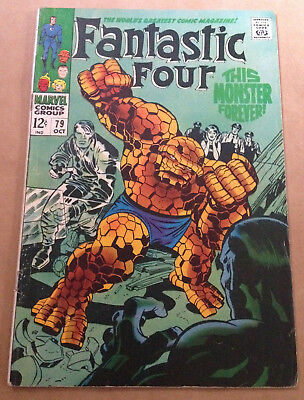 Fantastic Four # 79 - Jack Kirby Art - Marvel Silver Age 1968
