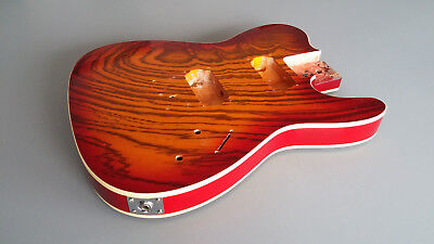 Telecaster Body, mit Furnier Top + Double Bindings, 2x Humbucker Fräsung, B Ware