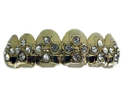 Grillz Faux Diamond Cross riga superiore hiphop Bling Grillz