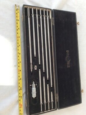 "moore wright internal Micrometer Set 2"" to 12"" Old Tools"