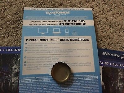 Transformers The Last Knight HD Digital Code ONLY