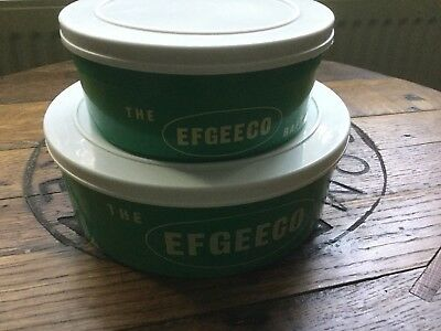 2 x OLD SKOOL EFGEECO BAIT BOXES A '2 PINT' & A '1 PINT' BOTH IN MINT CONDITION