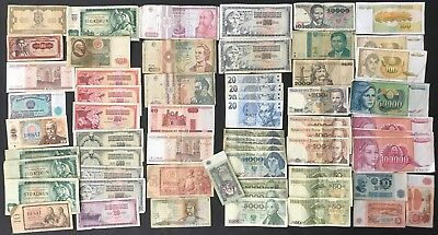 60 X Russia & Soviet Banknote Collection - Bulk Lot!  (1389)